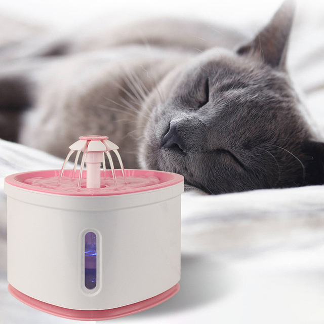 Cats Feeding & Watering Accessories Automatic Cat Water Fountain with LED Electric USB -2L  My Pet World Store