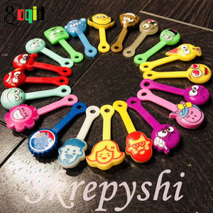 100pcs Skrepyshi Straps Cartoon Skrepyshy from Magnit Zombyshy for Children Interesting Skrepysh Paper Clips Collection Skrepish