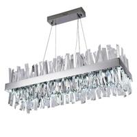 jmmxiuz Luxury design modern LED crystal chandelier lights AC110V 220V luster cristal chrome dining room lamp for living room