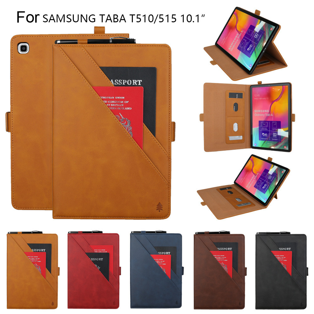 For Samsung Galaxy Tab A 10.1 T510 T515 2019 Case Smart Wallet Card Slot Cover Protective Cover Case Skin Accessories Чехол