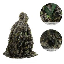 160*120cm Outdoor 3d Leaves Camo Leaf Cloak Breathable Open Poncho Type Camouflage Birdwatching Sniper Suit