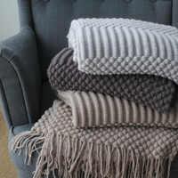 Весенне-осеннее мягкое покрывало на диван, кровать, самолет, дорожные Пледы для взрослых, машинная стирка, вязаный домашний текстиль