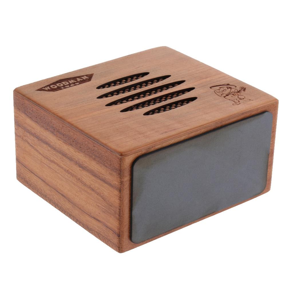 Bois Durable Mini Instrument de musique acoustique guitare Guzheng ukulélé amplificateur haut-parleur à faible bruit