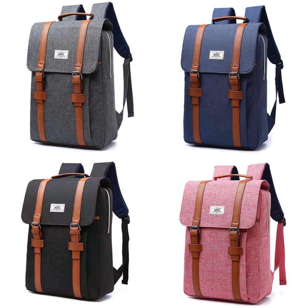 Женский холщовый рюкзак, повседневные Рюкзаки для женщин, 15 дюймов, рюкзаки для ноутбука, студенческий школьный рюкзак для женщин, Mochila