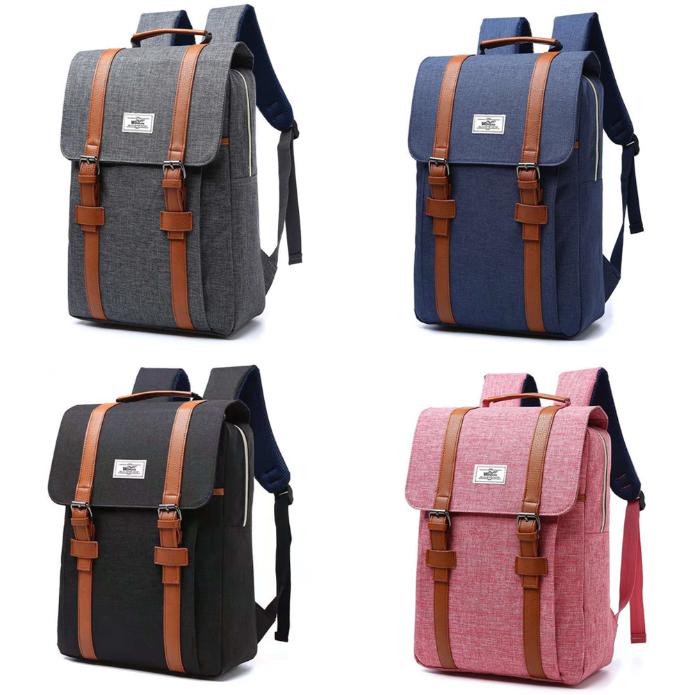 Image 5 - Women Canvas Backpack Casual Rucksacks Female 15 inch laptop Backpacks College Student School Backpack Women MochilaBackpacks   -