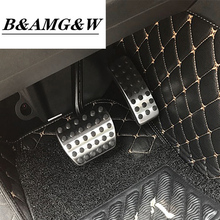Car Accelerator Pedals Brake Pedal Clutch Pedals Covers Stickers for Mercedes Benz GLA X156 2013-2017 interior auto accessories