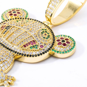 Image 4 - TOPGRILLZ Hip Hop Iced Out Frog Pendant Necklaces For Men Women Charm Chain Jewelry Gifts Full Micro Pave Zircon Necklaces