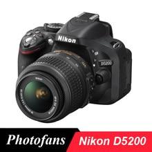 Câmera nikon d5200 dslr com kits de lente de 18-55mm