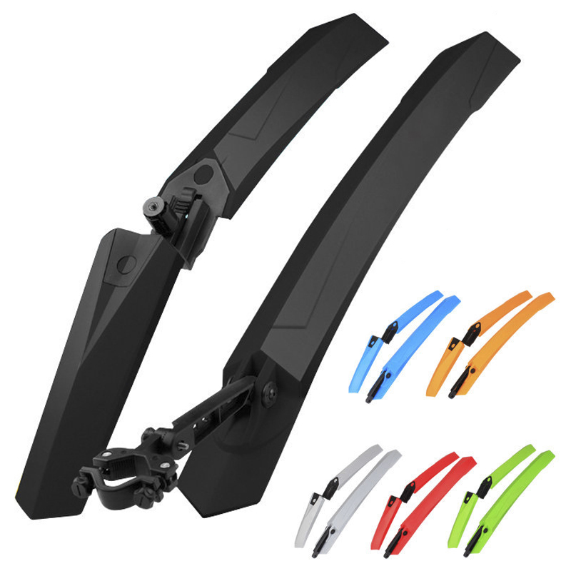 2PCS Bike Fender MTB Mud guard With LED Rear Light Quick Release Cycling Wings For 26 27.5 29 inch Bike Accessories Bike Fenders