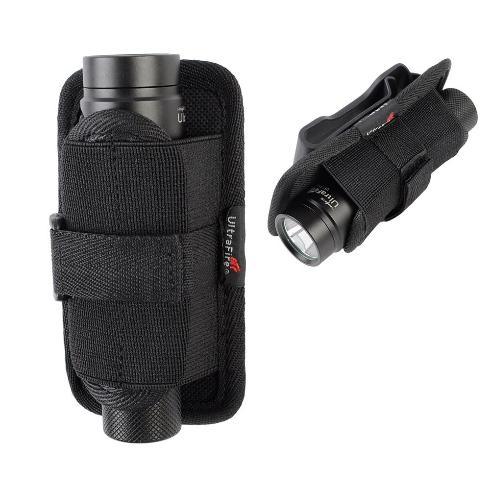 UltraFire 401# 360 Degrees Rotatable Flashlight Holster Nylon Pouch Portable Glare Tactical Flashlight Cover For Duty Belt