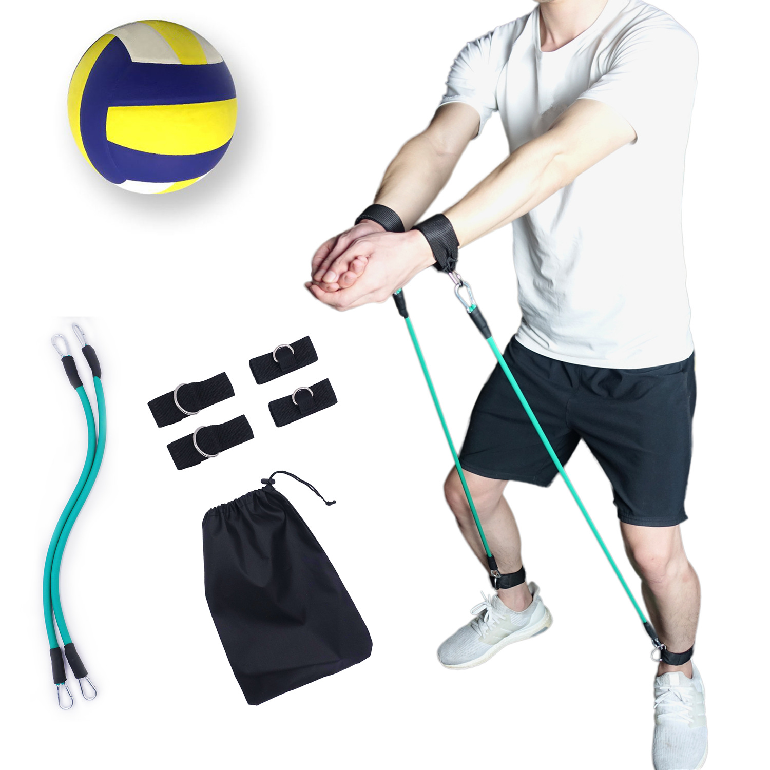 Volleyball Training Accessories Aid Resistance Bands Practice For Tosses Arm Swings To Prevent Excessive Upward Arm Movement