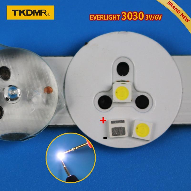 100pcs Led Tv Backlight 1.2W 3030 3V 6V Kit Electronique Led Led For Lcd Tv Repair Assorted Pack Kit Cool White Free Shipping