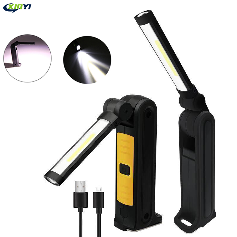 3In1 Rechargeable LED COB Camping Work Inspection Light Lamp Hand Torch Magnetic