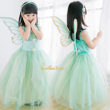 Girls Flower Fairy Dress Up Kids Tinker Bell Fairies Fancy Dress With Wings Child Halloween Princess Costume Elves Party Clothes fairies and elves vector motifs cd
