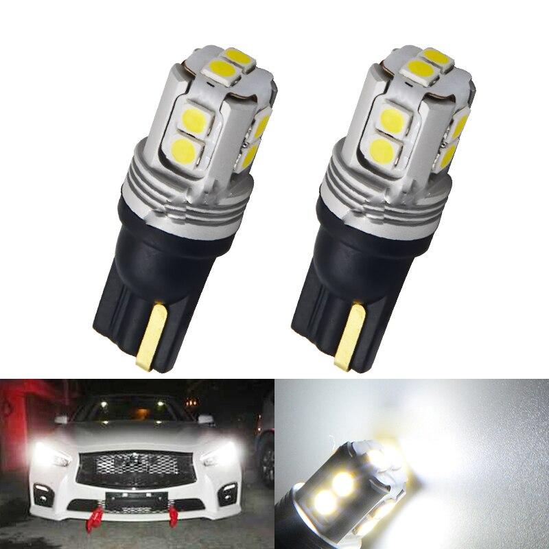 2 шт. T10 W5W светодиодный 3030 чип светодиодный Автомобильная Поворотная Габаритные огни Чтение купольная лампа WY5W 3030SMD Авто Клин Парковка лампы
