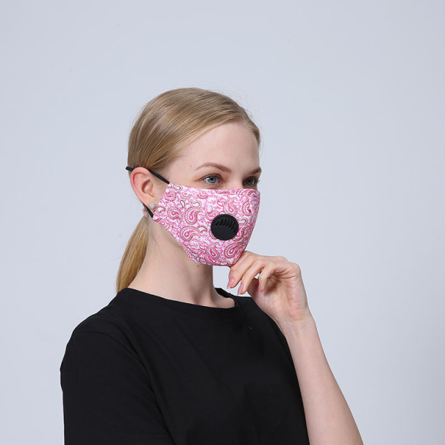 1Set Reusable Mouth Mask Washable Lepard Large Size PM2.5 Filter Mask Anti Dust Face Mask Windproof Mouth-muffle Anti Flu Mask 1