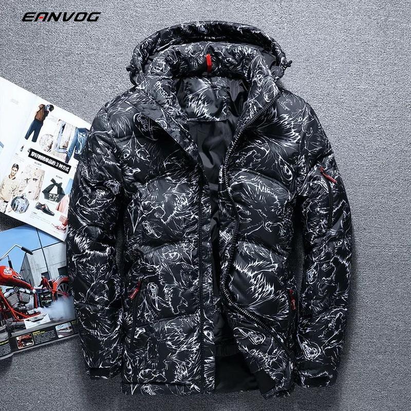 Winter Men's Warm Down Short Jacket Hooded Coat Thick Climbing Down Overcoat Hooded Coats Down Winter Jacket Mens Outwear
