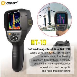 Image 2 - XEAST Professional Edition 핸드 헬드 HT 19 적외선 열 이미 저 320*240 HD 검출기 0.07 고감도 프리 멀티 미터
