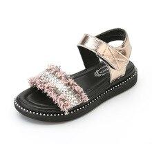 2019 Fashion Bling Girls Sandals Summer Kids Princess Children Sandal Gladiator Flat Beach Shoes