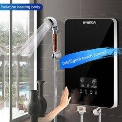 Calentadores de agua eléctricos, ducha caliente pequeña de 3 segundos para uso doméstico, configuración de temperatura de arranque de un botón