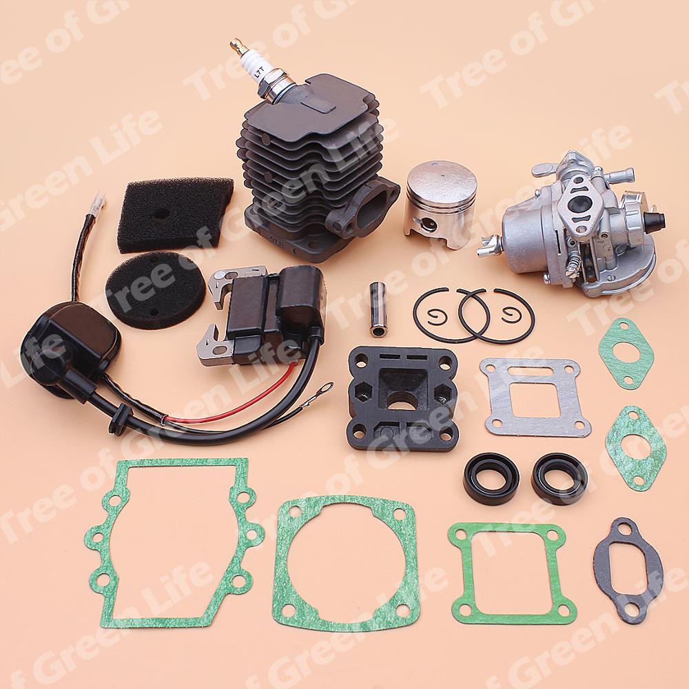 Robin Air Set Element Gasket Coil 40mm Manifold NB411 Kit Oil Carburetor Cylinder For Intake Filter Piston Seal CG411 Ignition