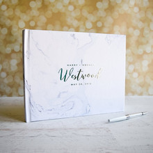 Marble name Wedding Guestbook custom landscape Guest Book ideas book guest sign in book engagement journal birthday memory book