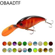 New Popper Crankbait rock bait 10cm/13.9g bronzing plastic bait 20color fake bait hard bait fishing accessories fishing bait недорого