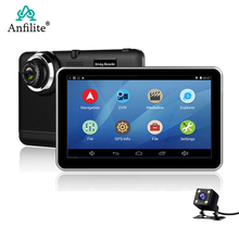 DVR Gps Navigation Dash-Cam Android Anfilite Camera 7inch Car Free Wifi 1080p Vehicle-Recorder