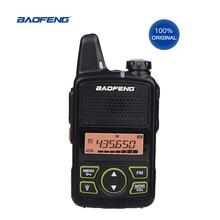 De Baofeng Mini Walkie Talkie BF T1 LCD UHF FM jamón Radio CB Radio de dos vías para los niños 1500mAh transceptor HF Interphone
