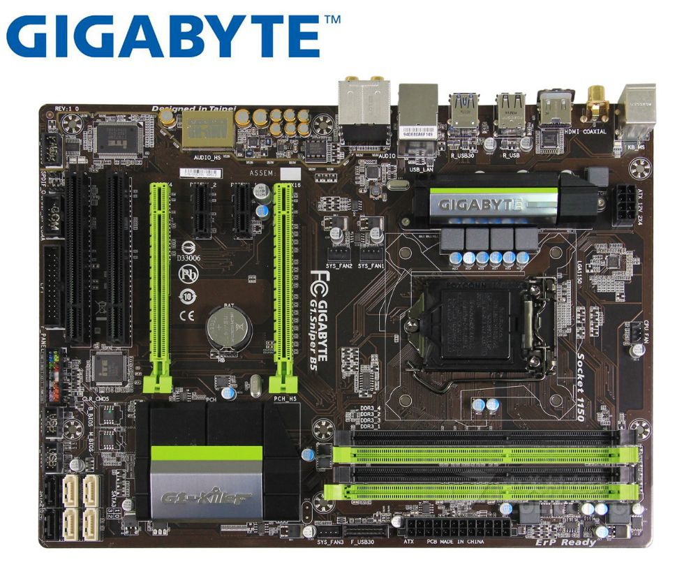 Gigabyte G1.Sniper B5  Used Desktop Motherboard  DDR3 LGA 1150  For I3 I5 I7 16G B85 Mainboard Boards PC