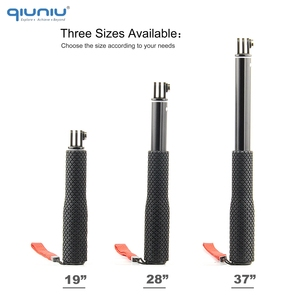 Image 2 - QIUNIU Extendable Monopod Selfie Stick Handheld Pole with Tripod Adapter Mount for GoPro Hero 8/7/6/5 for DJI Osmo Pocket Camera
