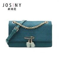 JOSINY-Bolso cruzado pequeño para mujer, bandolera ligera con correa de cadena, bolso de hombro con solapa