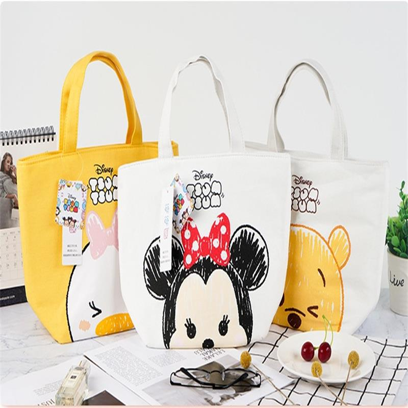 Disney Cartoon Insulation Bag Lunch Box Bag Cute Minnie Daisy Duck Winnie the Pooh Handbag Outdoor Ice Tote Bag