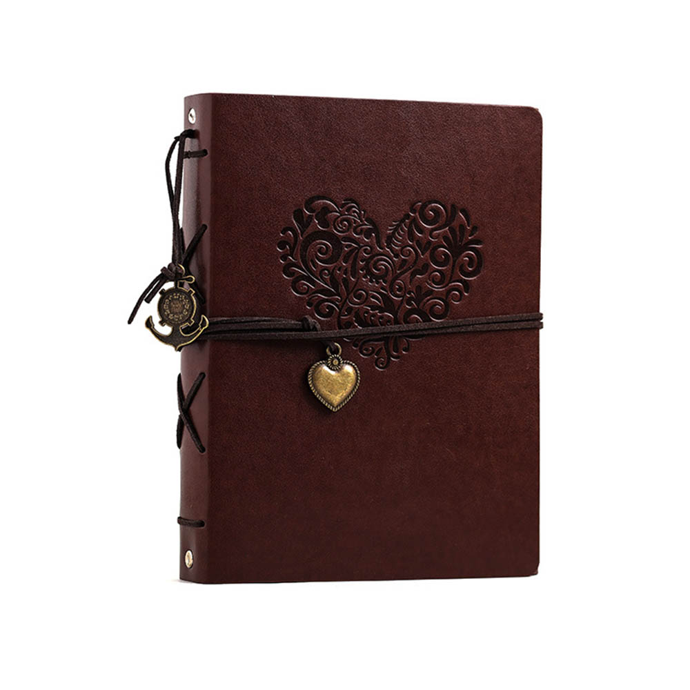 Photo Album Vintage Leather Scrapbook Wedding Guest DIY Memories Book Refillable Black Pages Birthday Gift Anniversary Present