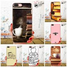 Soft Capa Cover Case Coffee And Book For Xiaomi Mi3 Mi4 Mi4C Mi4i Mi5 Mi 5S 5X 6 6X 8 SE Pro Lite A1 Max Mix 2 Note 3 4(China)