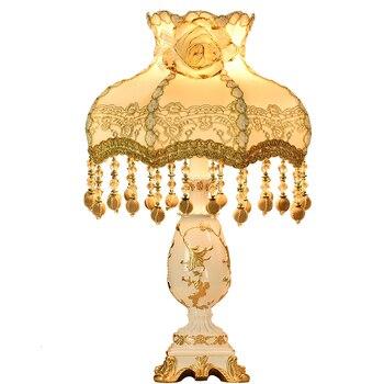 Modern European Style Desk Lamp Bedroom Bedside Lamp Princess Cozy Romantic Desk Lamp  Study Lamp