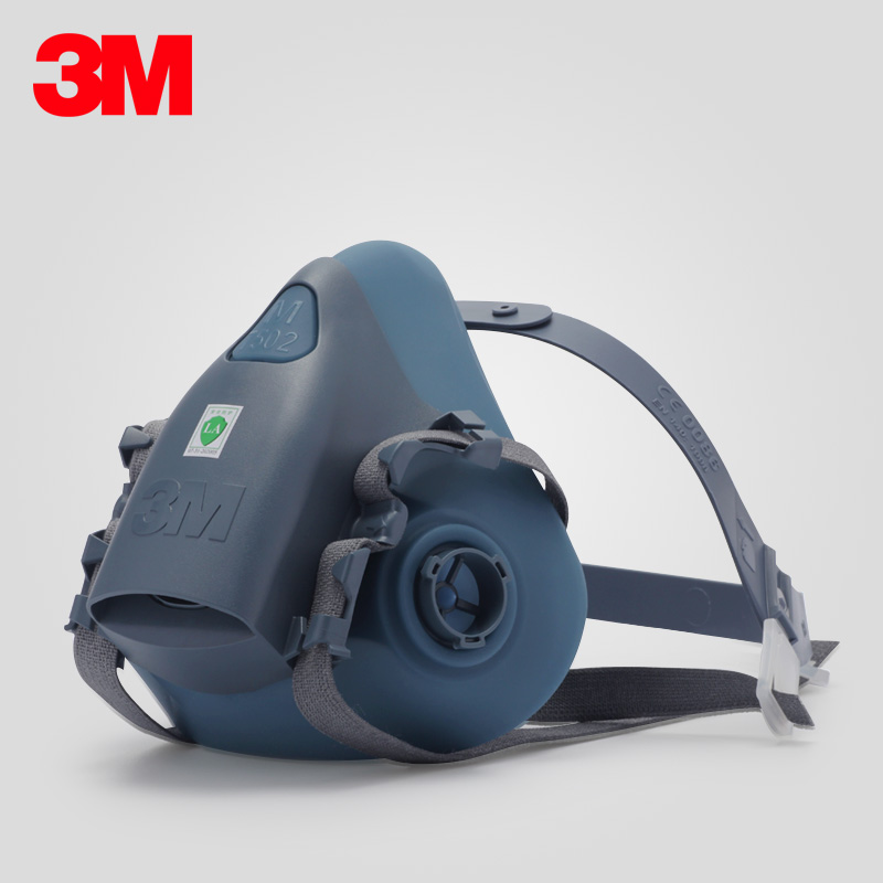 3M Mask Resirator 7502 Silicone Soft Mask 1/3/5/10pcs Wholesale Paint Polishing Fit For 6000 Series Cartridges And Filters