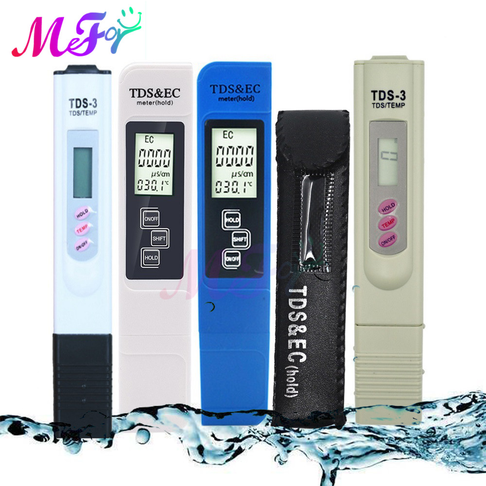 Portable LCD Digital TDS EC Temp Water Quality Tester Water Testing Pen Filter Meter Measuring Tool Aquarium Pool Thermometer PH Meters    - AliExpress