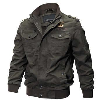 Giacca militare Degli Uomini di Grande Formato 6XL Bomber Degli Uomini di Autunno Inverno Outwear Casual Giacca di Volo di Cotone Jaqueta masculina