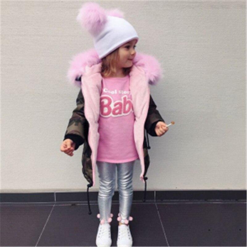 Новая зимняя розовая камуфляжная одежда для маленьких девочек, одежда с капюшоном для маленьких девочек, пальто на молнии для девочек, длин...