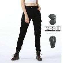 Pantalones de Motocross para mujer, Jeans para motorista, equipo protector, Pantalones estilo motero, 3 colores