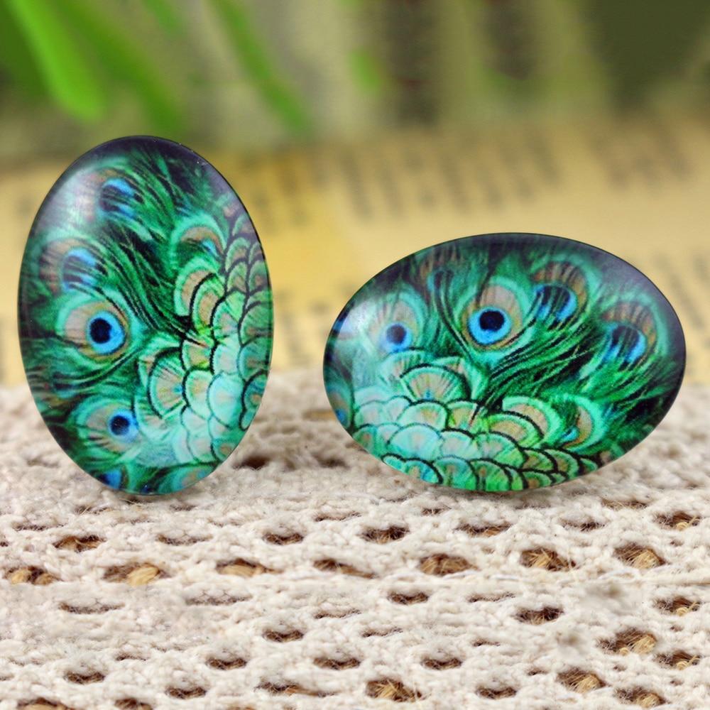 2018 Hot Sale 10pcs 18x25mm Handmade Photo Glass Cabochons  (H5-20)