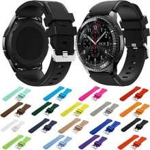 Marke Sport Silikon Strap für Samsung Getriebe S3 S 3 Frontier/Klassische band armband 22mm handgelenk bands ersatz gummi gürtel