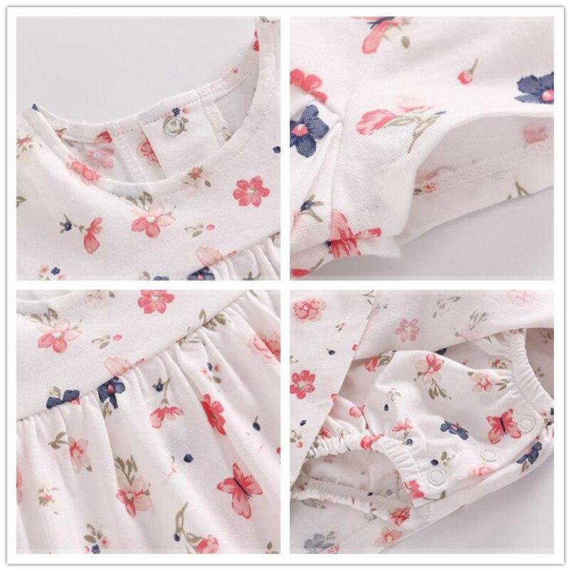 Купить с кэшбэком 2020 spring summer baby girl clothes romper 2pcs/set newborn baby girl clothing cotton Infant Clothing Sets Baby Jumpsuit