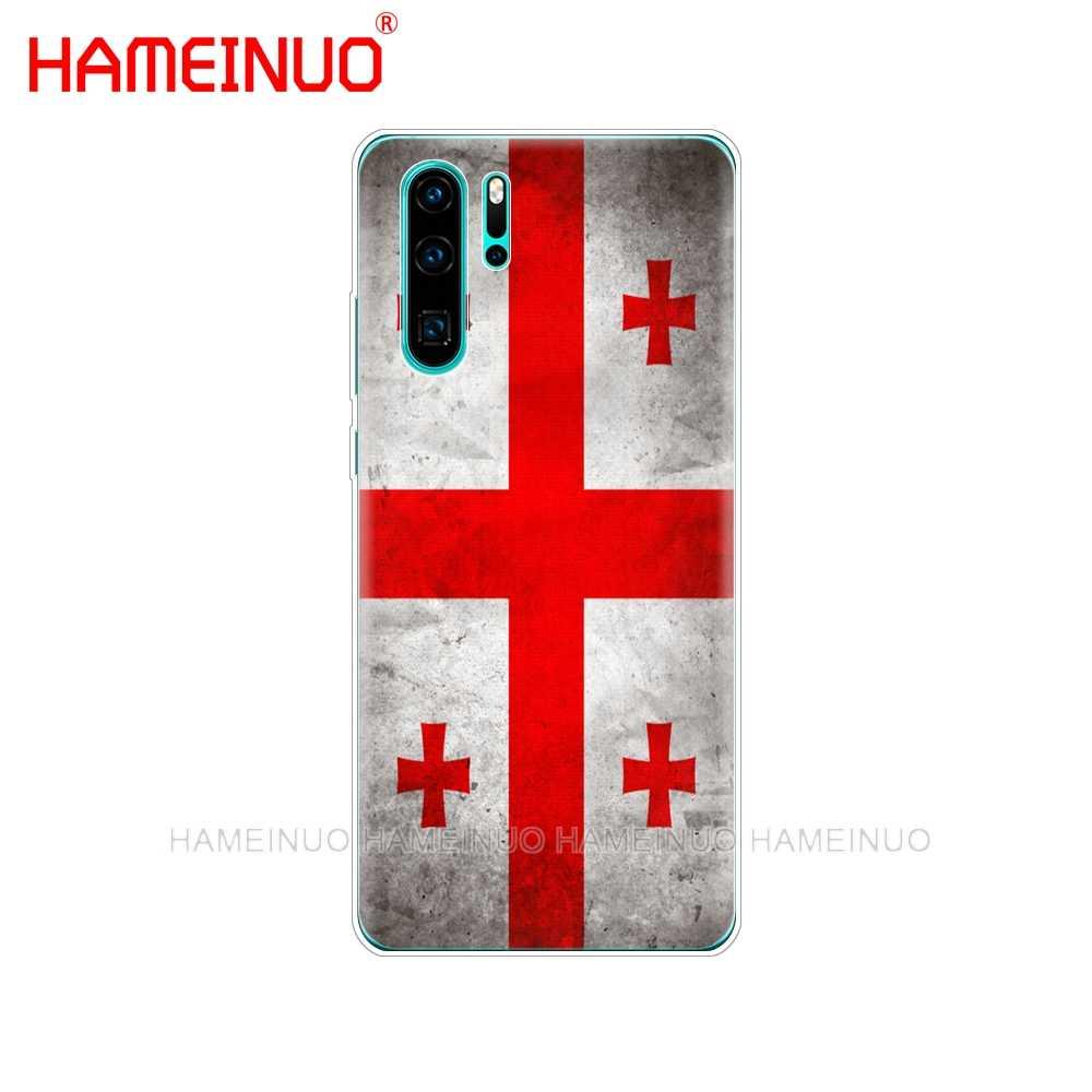 シリコン電話カバーケースのための huawei P30 プロ LITE 1080P スマート 2019 プラス p スマート Z p20 lite 2019 フラグジョージアリトアニアベラルーシ