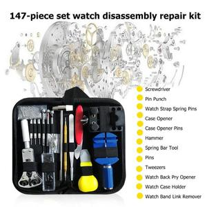 Image 3 - 147pcs 시계 수리 도구 키트 시계 링크 핀 리무버 케이스 오프너 스프링 바 리무버 Horlogemaker Gereedschap Repair WatchTool Kit