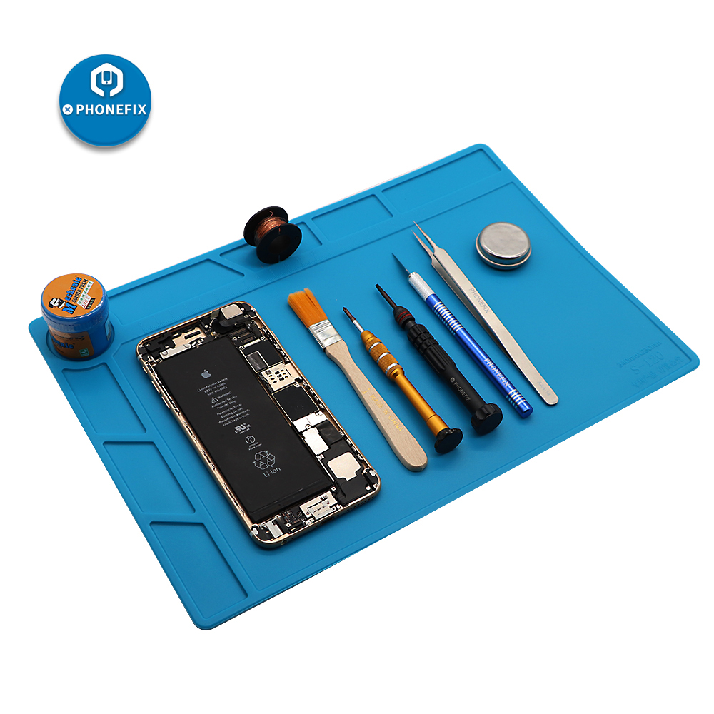 PHONEFIX Heat Resistant Mat Anti-Static Heat Insulation Silicone Pad ESD Working Mat Platform For IPhone Samsung Welding Repair