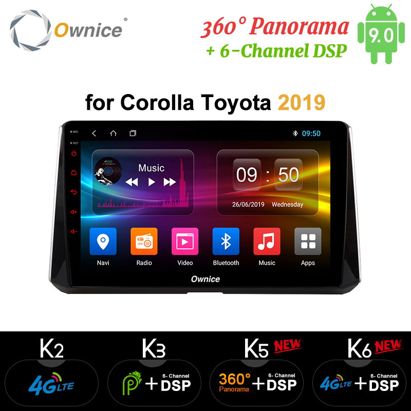 Ownice k3 k5 k6 Android 9.0 GPS Navi 360 Panorama car <font><b>multimedia</b></font> player for <font><b>Toyota</b></font> <font><b>Corolla</b></font> <font><b>2019</b></font> Head unit Radio DSP 4G LTE SPDIF image