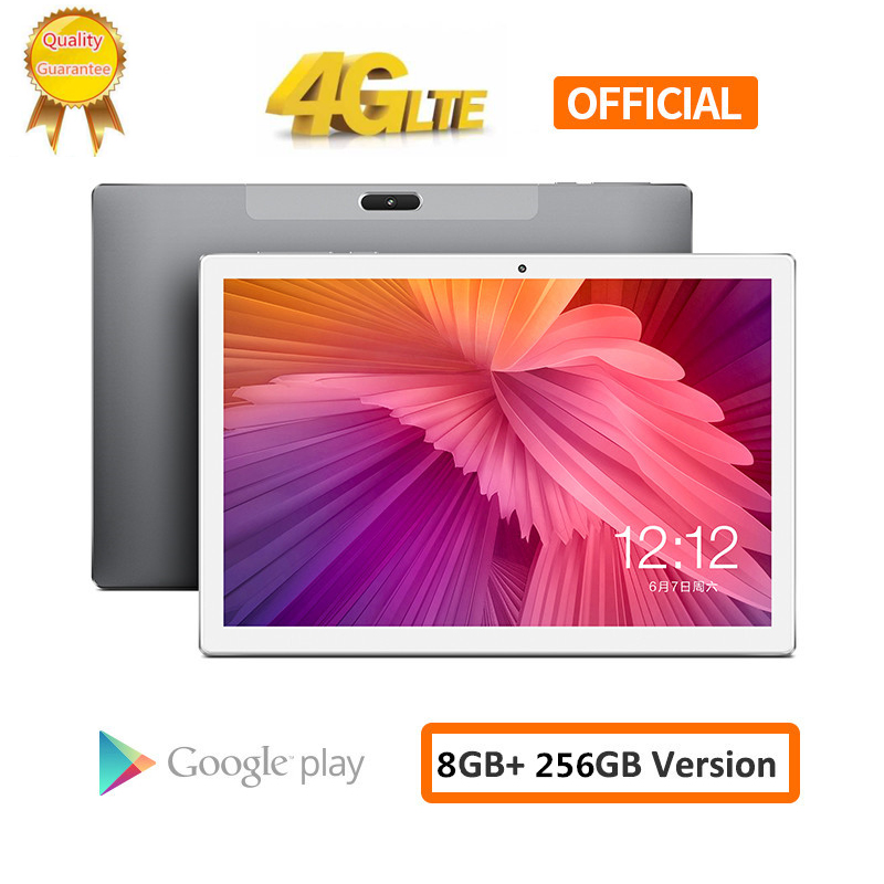 2020 Big Battery 8000mAH 256G 4G LTE FDD 10.1 Inch 2.5D Tablet Pc 10 Deca Core MTK6797 8GB RAM 256GB ROM 2560*1600  Android 8.0