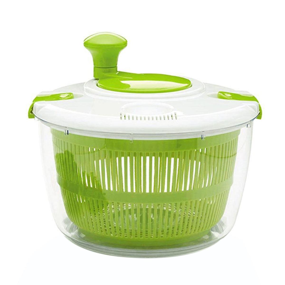 Girador de salada secador gadget cozinha acessórios legumes frutas secador de grande capacidade manual enxaguamento secagem escorredor lavagem cesta